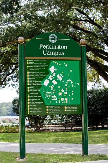 Post and panel campus signs