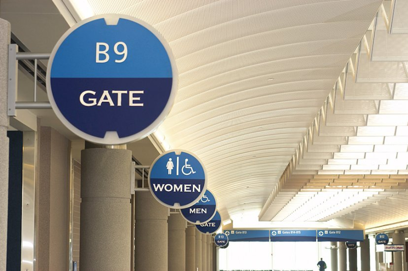 Airport sign system